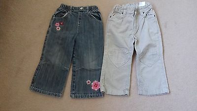 Girls Jeans &+ Cords Age 18-24 Months