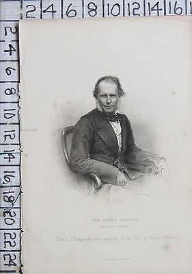 c1850 ANTIQUE PRINT ~ SIR JAMES BROOKE ~ RAJAH OF SARAWAK