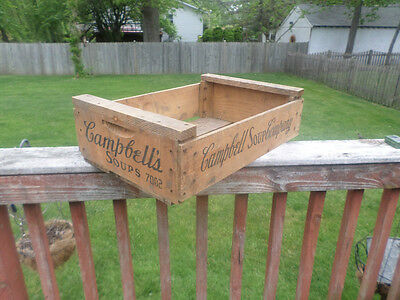 Vintage Campbell's Soup Wooden Shipping Crate Advertising Soup Crate Very Cool