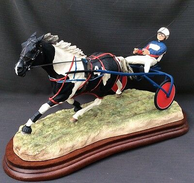 Border Fine Arts - Off And Pacing - Piebald Sulky Trotting