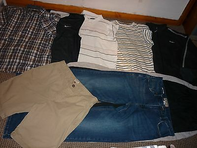 "Bundle Mens Clothes 34"" Waist Jeans & Shorts & L T-shirts  Nike Next Gola Donnay"