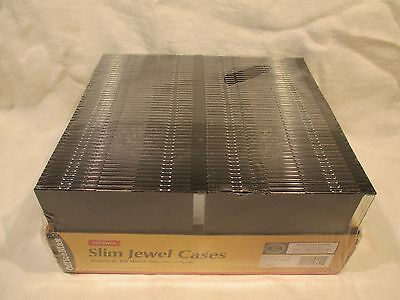 100 New single Slim CD/DVD/VCD Jewel cases 5.2mm, Great Quality Fro OfficeMax