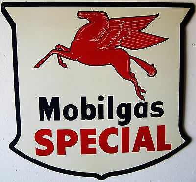"Extra Large Mobilgas Special Five Pointed Shield (42"" by 41"")"
