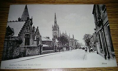 Bedford Place and Parish Church Alloa Postcard Un-posted