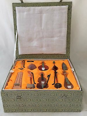 Boxed Chinese Early 20 Th Century Hard Stone Music Instrument Jade,agate Soapsto