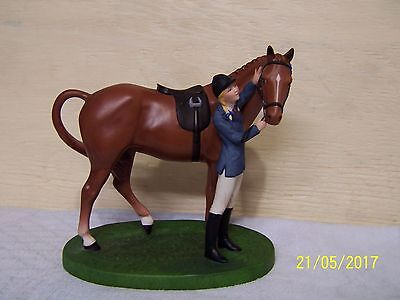 1987 Franklin Mint B.h.s. First Prize Porcelain Figurine Horse And Rider