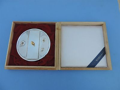 Exquisite Vintage Japanese Solid Sterling Silver Bonbonniere Snuff Box Japan