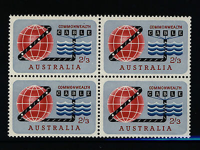 Australia Stamps - 1963 2/3 CABLE - Block of 4 - MNH