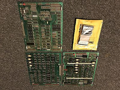 Tron Pcb 3 Board Stack With New Ribbon Cables. Untested Disney Arcade