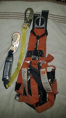Falltech Safety Harness With Falltech Fall Arrest Lanyard