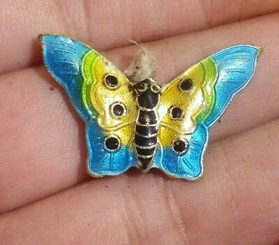 1970s Cloisonne Vintage Pendant / joiner BUTTERFLY double side-NZ Estate