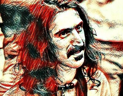 "Frank Zappa Portrait Vinyl Bumper Sticker 2.5x2.75"" Rock n Roll Hippie Jam Band"
