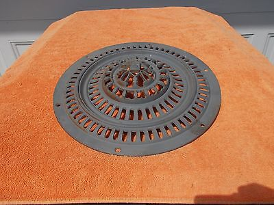very Ornate Antique Cast Iron Heating Grate 14 INCHES IN DIAMETER