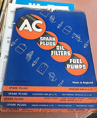 Vintage 1956 50s Advertising Catalogue AC Spark Plugs Oil Filters Motor Car Boat