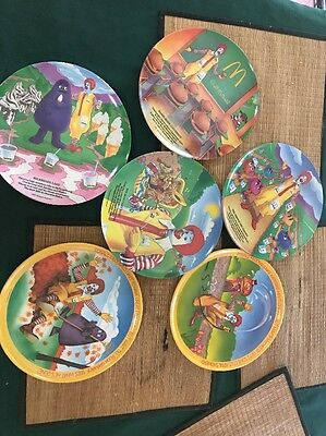 Lot of 6 Vintage McDonald Plates from 1977 and 1989