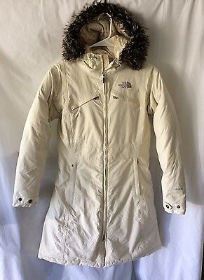 The NORTH FACE Women's HYVENT GOOSE DOWN Faux Fur PARKA HOODIE JACKET sz XS