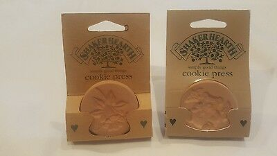 2 Wilton Shaker Hearth Clay Flower & Bear Cookie Presses 1996 Brand New