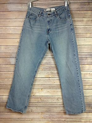Gap Mens 33X34 Medium to Light Wash Loose Fit Jeans 34X34 Actual Straight Leg