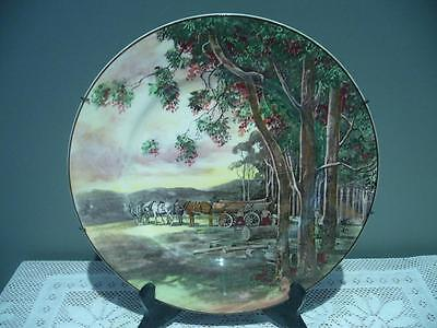 Royal Doulton Timber Wagon Series Ware Cabinet / Rack Plate - D5367 - England