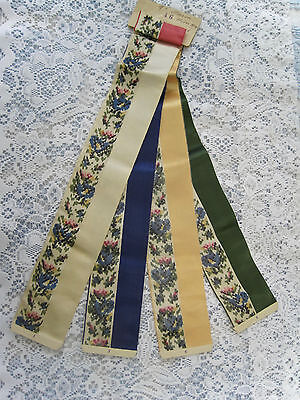 Antique French Victorian Watered Silk Fabric Samples-1904-Price Reduced By  $10