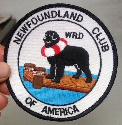 NEWFOUNDLAND CLUB of AMERICA Dog Club Water Rescue MEMBERSHIP Patch WRD