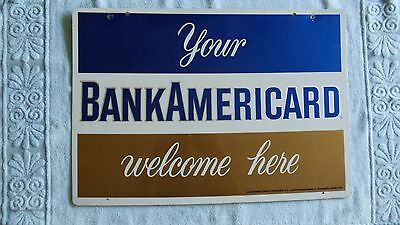 BankAmericard Metal Double Sided Sign