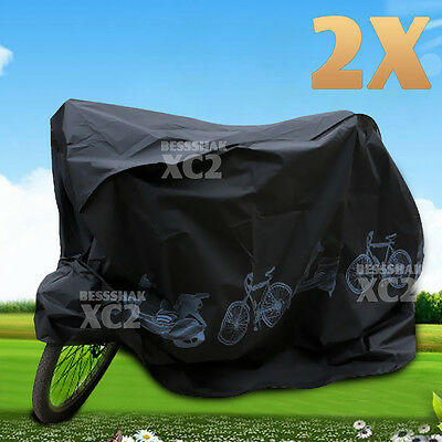 2PCs Waterproof Rain Dust Bike Bicycle Cycling Cover Protector UV Resistant