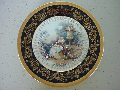 Limoges 22cm Cabinet Plate 'Courting Couple'