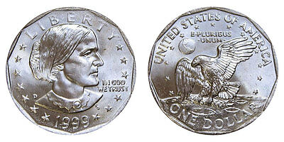 1999 Uncirculated Susan B. Anthony Dollar - Mint State MS/BU