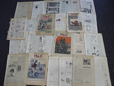 Vintage Newspapers Lot 1918-1938 THE SYDNEY MAIL Harbour Bridge WW1 Rugby ANZAC
