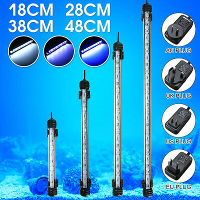 Waterproof Submersible Aquarium Fish Tank 5050 Bar Strip Light Lamp White Blue
