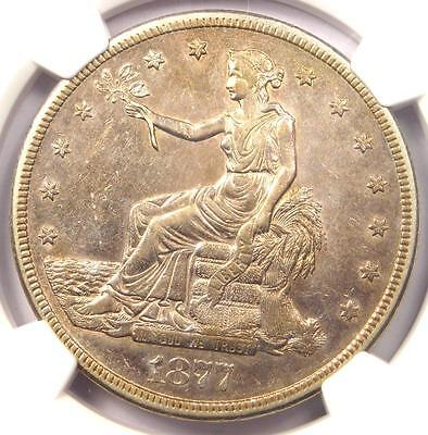 1877-S Trade Silver Dollar T$1 - Certified NGC AU Detail - Rare Certified Coin!