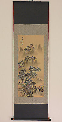 """Chinese Hanging Scroll """"Pine Landscape""""  @d243"""