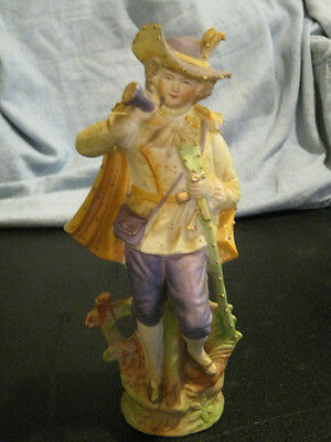 """Vintage Paulux Bisque Porcelain Figurine, Made in Occupied Japan approx 8 1/2"""""""