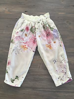 Daisy And Moose Winter Pants Floral Girls Size 3