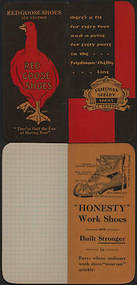 1930's Red Goose Shoe Friedman Shelby Honesty Work shoes Advertising Notebook