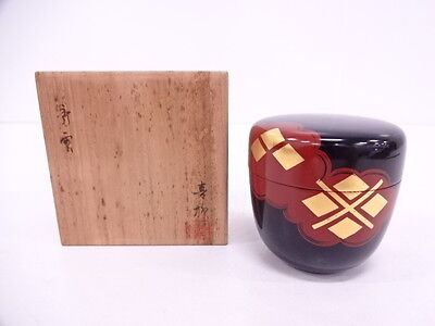 2990664: Japanese Tea Ceremony / Natsume (Tea Caddy) / Hidehira Lacquer / Artist