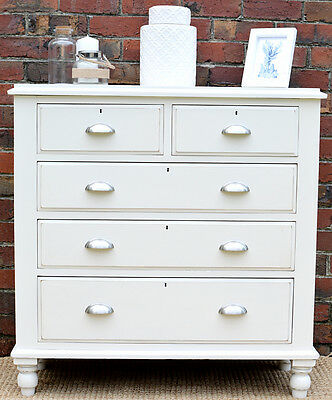 Hamptons French Country Style Storage Sideboard Chest of 5 Drawers
