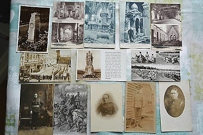 Job Lot Bundle Collection of Postcards, Military Army Bomb Damage Soldiers etc