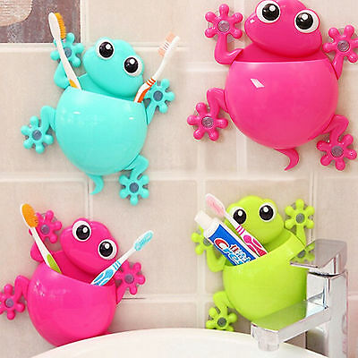 Hot Toothbrush Holder Wall Mount Suction Cup  Toothpaste Storage Holder Bathroom