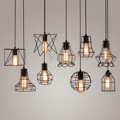 New Edison Iron Vintage Ceiling Light Fitting Lamp Bulb Cage Bar Cafe Lampshade