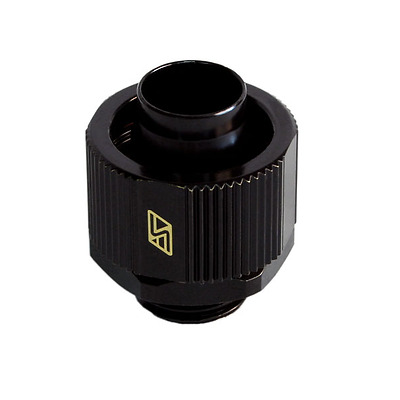 "Brand NEW Swiftech Black 3/8"" x 5/8"" Brass Lok-Seal G1/4"" Compression Fitting"