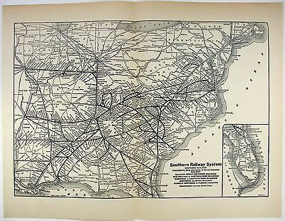 Southern Railway System - Original 1926 Dated System Map