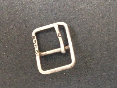 Tiny Sterling Silver Hallmarked Buckle London. Quirky. Collectable.