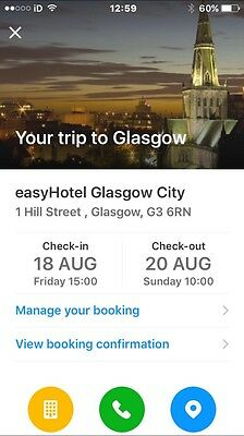 Glasgow Hotel 2 Night Stay 3 Days (double Room)  August Pride Weekend