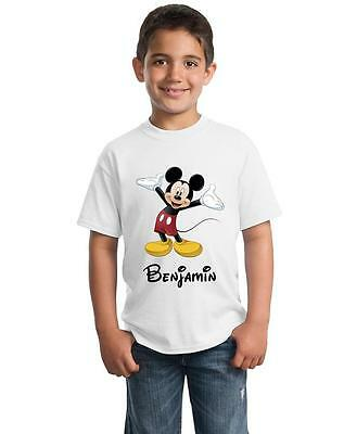 Mickey Mouse TV Show Personalised Children's T-Shirt Kids tshirt Including Name