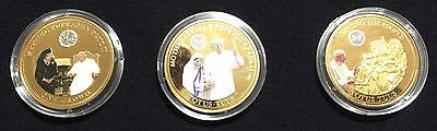 The Pope John Paul II Coin Collection set of 3 coins
