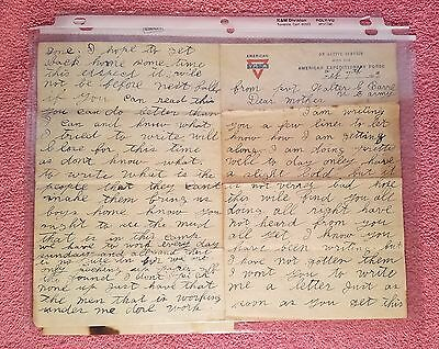 Antique Letter 1919 - WW I - Letter from US Army Soldier  St Aignan France to SC