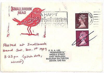 JJ232 1979 GB IOW LOCAL POST *Smallbrook Head* BIRDS Hants Pmk {samwells-covers}