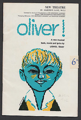 1962. New Theatre London. 'Oliver' Colin Page, John Bluthal, JZ.25